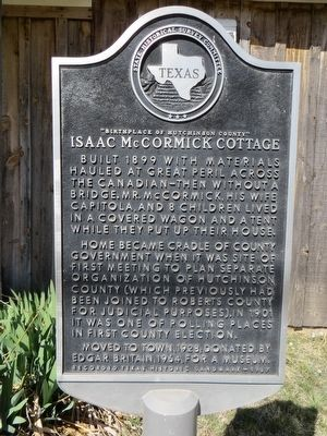 Isaac McCormick Cottage Marker image. Click for full size.