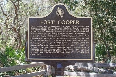 Fort Cooper Marker image. Click for full size.