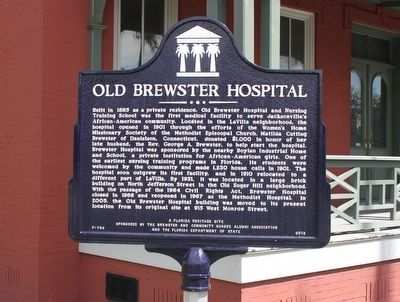 Old Brewster Hospital Marker image. Click for full size.