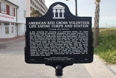 American Red Cross Volunteer Life Saving Corps and Station Marker image. Click for full size.