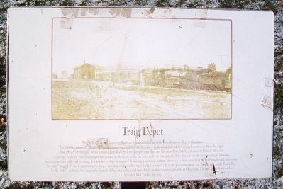Train Depot Marker image. Click for full size.