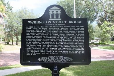 Washington Street Bridge Marker (side B) image. Click for full size.