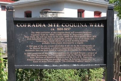 Cofradia Site Coquina Well ca.1614-1657 Marker image. Click for full size.