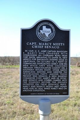 Capt. Marcy Meets Chief Senaco Marker image. Click for full size.