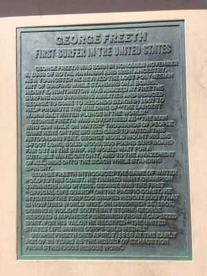 George Freeth Marker [front side] image. Click for full size.