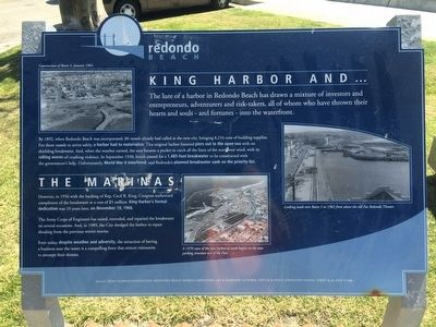 King Harbor and ... The Marinas Marker image. Click for full size.