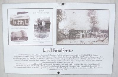 Lowell Postal Service Marker image. Click for full size.