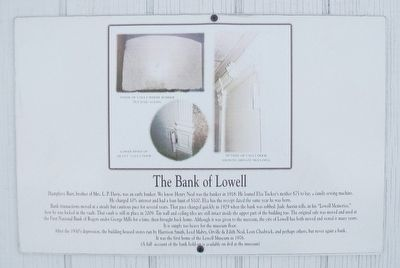 The Bank of Lowell Marker image. Click for full size.