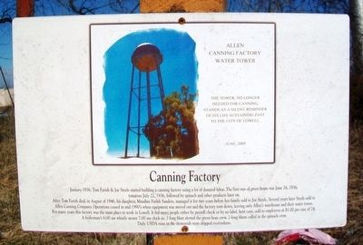Canning Factory Marker image. Click for full size.