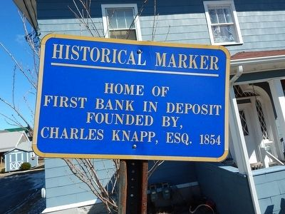 Home of First Bank in Deposit Marker image. Click for full size.