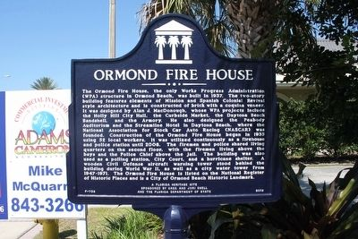 Ormond Fire House Marker image. Click for full size.