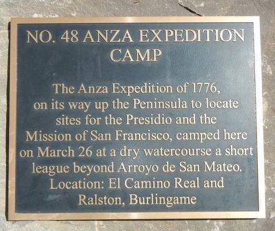 Anza Expedition Camp Marker image. Click for full size.