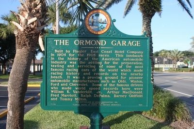 The Ormond Garage Marker image. Click for full size.