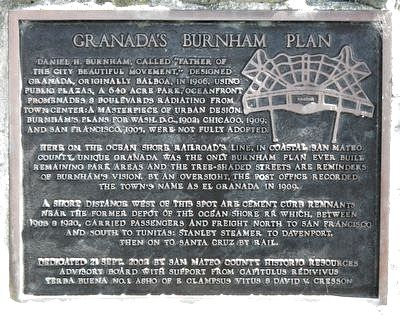 Granada's Burnham Plan Marker image. Click for full size.