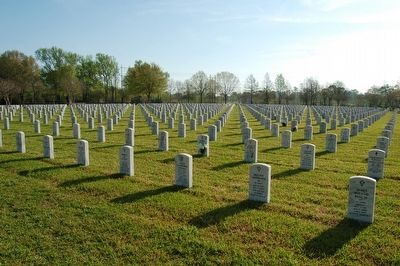Port Hudson National Cemetery image. Click for full size.