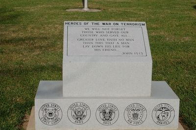 Heroes Of The War On Terrorism Marker image. Click for full size.