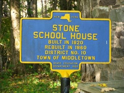 Stone School House Marker image. Click for full size.
