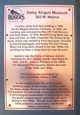 Daisy Airgun Museum Marker image. Click for full size.
