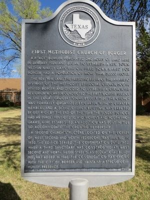 First Methodist Church of Borger Marker image. Click for full size.