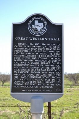 Great Western Trail Marker image. Click for full size.