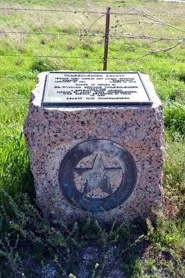Throckmorton County Marker image. Click for full size.