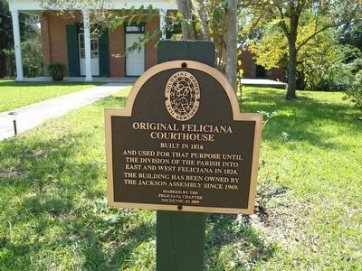 Original Feliciana Courthouse Marker image. Click for full size.