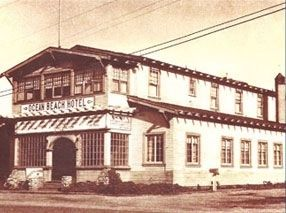 Ocean Beach Hotel in its heyday image. Click for full size.