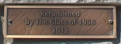 Replica of the Statue of Liberty Refurbishment Marker image. Click for full size.