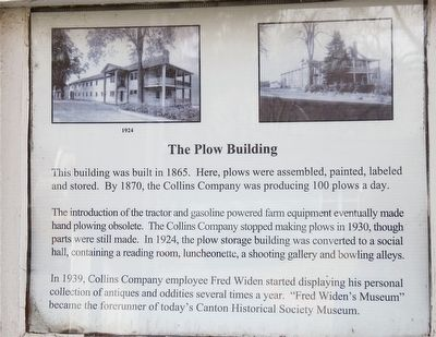 The Collins Company Plow Building Marker image. Click for full size.