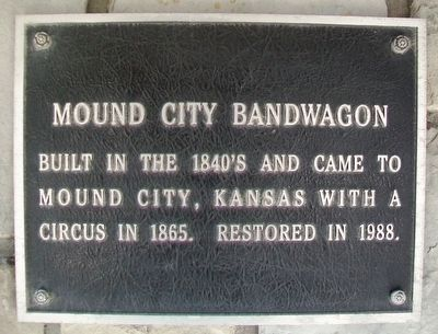Mound City Bandwagon Marker image. Click for full size.