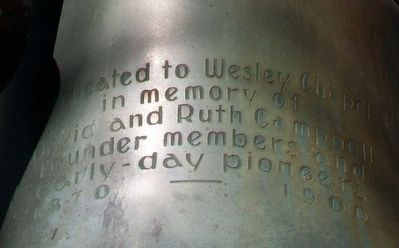 Wesley Chapel Bell Inscription image. Click for full size.