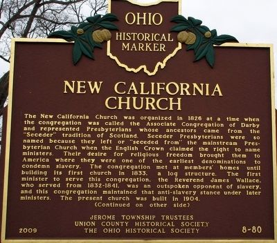 New California Church Marker image. Click for full size.
