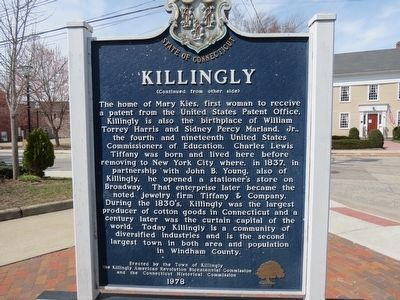Killingly Marker image. Click for full size.