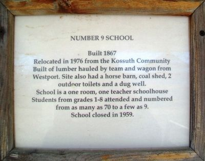 Number 9 School Marker image. Click for full size.