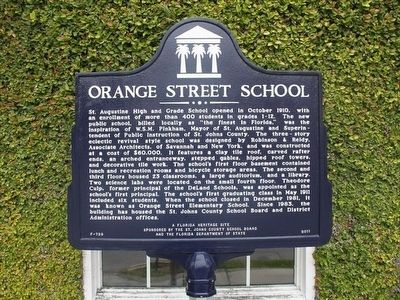 Orange Street School Marker image. Click for full size.