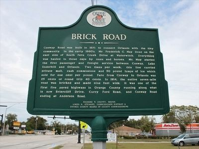 Brick Road Marker image. Click for full size.