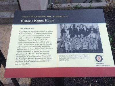 Historic Kappa House Marker image. Click for full size.