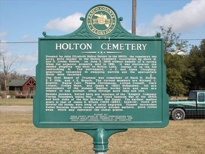Holton Cemetery Marker image. Click for full size.
