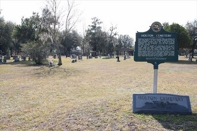Holton Cemetery Marker and cemetery image. Click for full size.