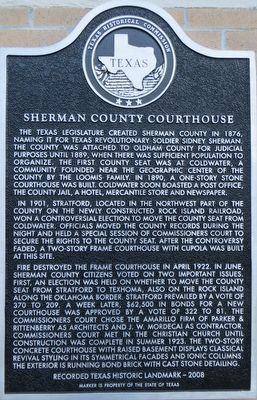 Sherman County Courthouse Marker image. Click for full size.