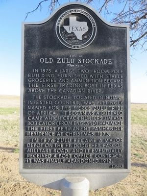 Site of Old Zulu Stockade Marker image. Click for full size.
