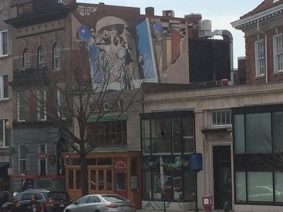 Mural at 1736 Connecticut Ave. mentioned in marker text. image. Click for full size.