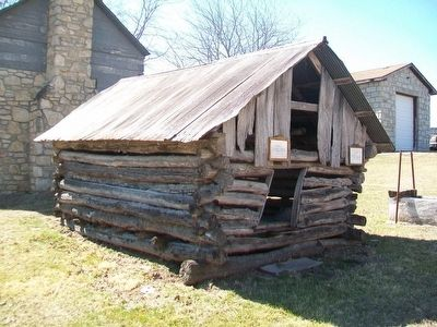 Log Corncrib and Marker image. Click for full size.