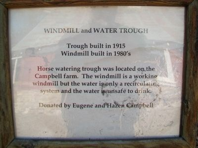 Windmill and Water Trough Marker image. Click for full size.