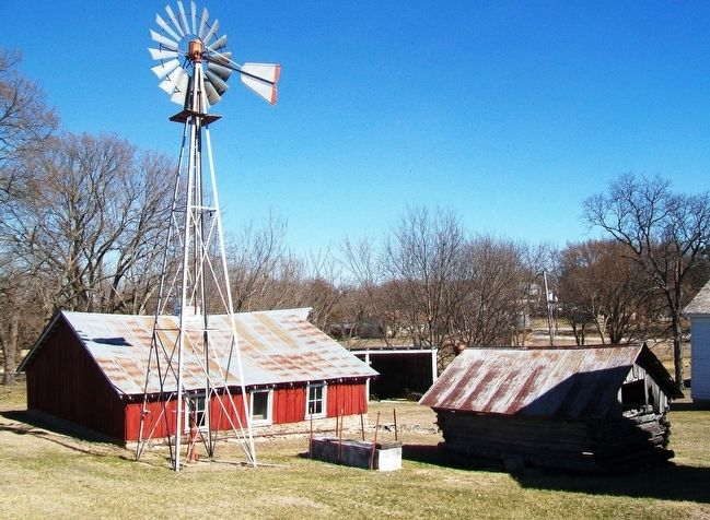 Windmill and Water Trough image. Click for full size.