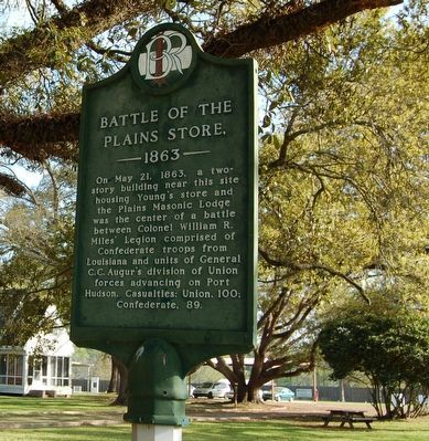 Battle of the Plains Store Marker image. Click for full size.