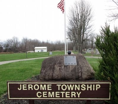 Jerome Township Veterans Memorial Marker image. Click for full size.