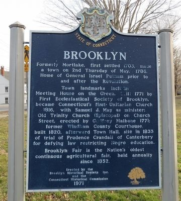 Brooklyn Marker image. Click for full size.