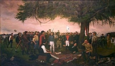 The Surrender of Santa Anna by William Henry Huddle, 1886. image. Click for full size.