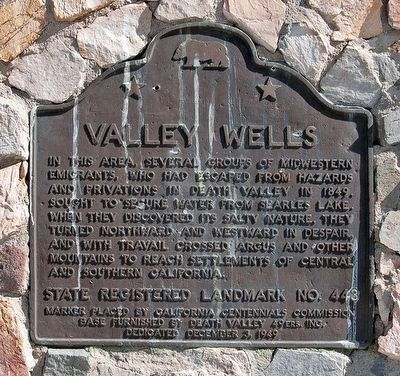Valley Wells Marker image. Click for full size.